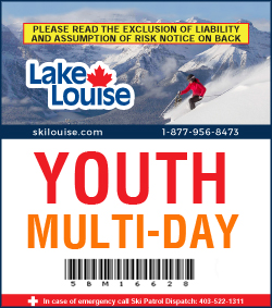 2018/19 Multi-Day Lift Ticket - YOUTH