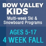 BOW VALLEY KIDS - 4 WEEK FALL PROGRAM
