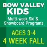 Junior Bow Valley Kids Fall Program (4 Week)