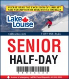 2018/19 Half-Day Lift Ticket - SENIOR