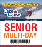 2018/19 Multi-Day Lift Ticket - SENIOR