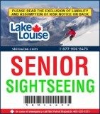 2018/19 Sightseeing Lift Ticket - SENIOR