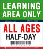 2018/19 Learning Area Lift Ticket - HALF-DAY