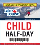2018/19 Half-Day Lift Ticket - CHILD