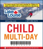 2018/19 Multi-Day Lift Ticket - CHILD