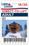 2019/20 Direct-to-Lift Lake Louise Plus Card