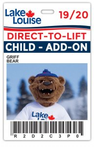 2019/20 CHILD ADD-ON Direct-to-Lift Lake Louise Plus Card